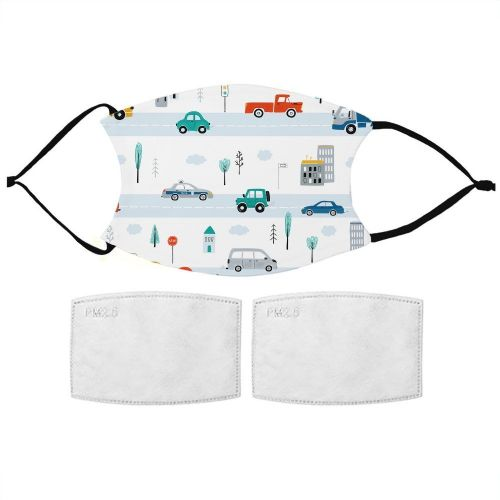 Kids Car Pattern Face Mask
